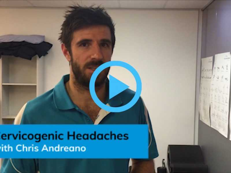 Video discussing Cervicogenic Headaches