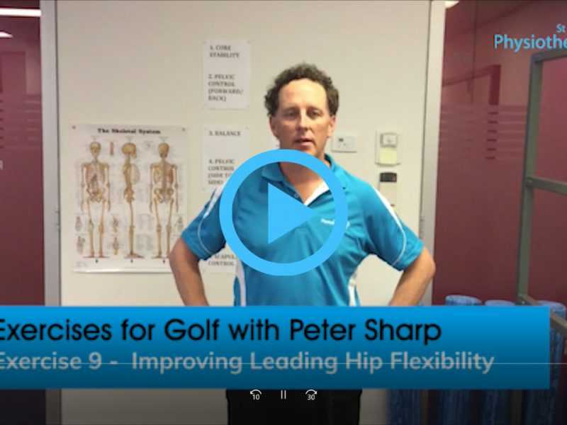 Golf Exercise Improve Leading Hip Flexibility