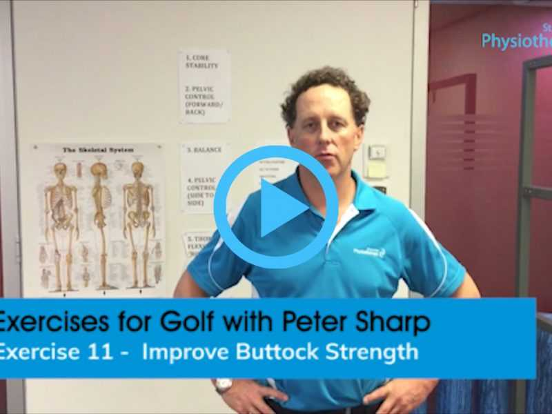 Golf exercise video improve buttock strength